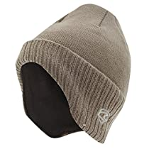 Adults Unisex Thermal Knitted Winter Ski/Winter Hat with Lining (One Size) (Beige)