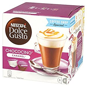 Nescafe Dolce Gusto Chococino Caramel Coffee Pods, Pack of 3 (Total 48 Capsules, 24 servings)
