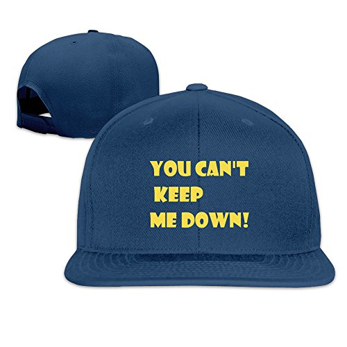 Runy Custom You Can't Keep Me Down Adjustable Baseball Hat & Cap Navy (Champions League 15 Album compare prices)
