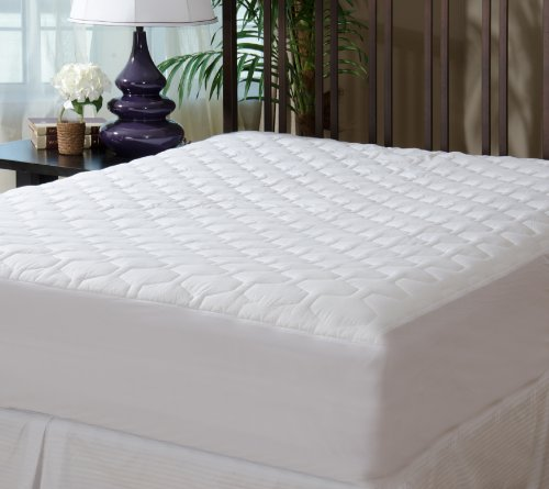 Find Discount Mattress Pad Cover – Fitted – Quilted – Queen (60×80″) – Stretches to 20″ Deep!