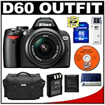 Nikon D60 Digital SLR Camera with 18-55mm AF-S VR Zoom Lens + 8GB SD Card + EN-EL9 Battery + Case + Cameta Bonus Accessory Kit