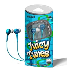 Maxell JT-B JuicyTunes Lightweight Stereo Earbuds for iPods & MP3 Players (Hassle Free Packaging)