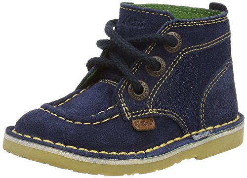KickersAdlar Legendry Sued Infant Dark Blue / Dark Yellow - Stivaletti Ragazzi, Blu (Blu (Dark Blue)), 25