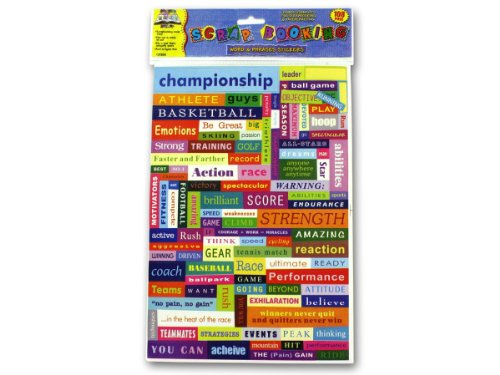 Word and phrase stickers - Case of 24