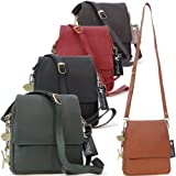 Catwalk Collection Leather Organiser Messenger Bag - Metro