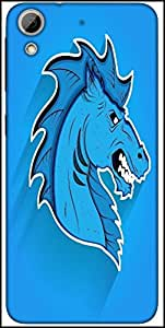 Snoogg Angry Horse Mascot Face Expression Designer Protective Back Case Cover For HTC Desire 626