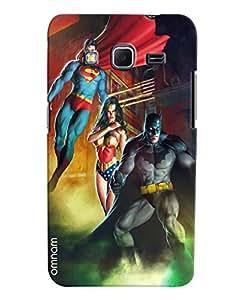 Omnam Superhero Batman Superman Printed Designer Back Cover Case For Samsung Galaxy Core Prime