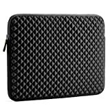 Laptop Sleeve, Evecase 15~15.6 inch Diamond Foam Splash & Shock Resistant Neoprene Universal Sleeve Zipper Case Bag for Dell HP Gaming Chromebook Ultrabook Notebook - Black (Color: Black, Tamaño: 15.6inch)