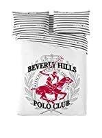 BEVERLY HILLS POLO CLUB Juego De Funda Nórdica Los Angeles (Blanco/Rojo/Negro)