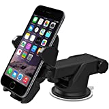 iOttie Easy One Touch 2 Car Mount Holder for iPhone 6s Plus 6s 5s 5c, Samsung Galaxy S5 S4 S3, Note  4 3, Google Nexus 5 4, LG G3.