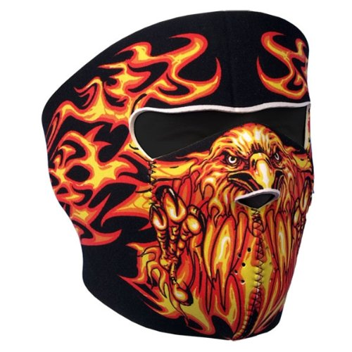 Hot Leathers Bikers Full Protection BLAZING EAGLE NEOPRENE FACE MASK, with Velcro Back Closure (Hot Leathers Face Mask compare prices)