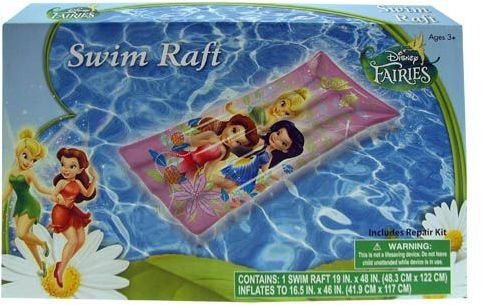 "Inflatable Raft - Disney - Fairies (19"" x 48) (Swimming Toys) - 1"