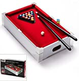 Kids Children Mini Tabletop Pool Table Games Sports Snooker Toy Red Carpet Best on Amazon