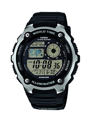 Reloj cuarzo Casio Para Unisex Con  Gris Digital Y Negro Resina AE-2100W-1AVEF