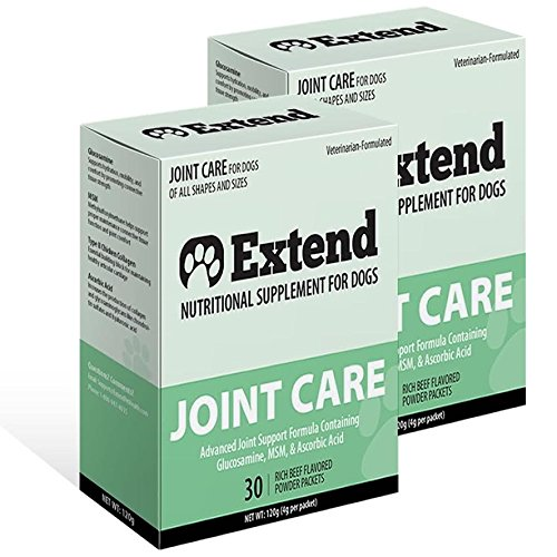 Extend-Joint-Care-For-Dogs-2-Box-Special-Glucosamine-for-Dogs-with-MSM-100-ALL-NATURAL-Pure-Grade-Ingredients