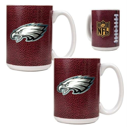 Nfl Philadelphia Eagles Primary Logo Gameball Coffee Mug Set (2-Piece)
