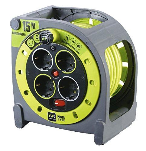 Masterplug-Pro-XT-KASSETTE-M-Kabeltrommel-Kabelbox-15m-mit-4-Steckdosen-Schalter-und-Thermoschutz