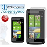 ITALKonline HTC Trophy 7 Screen Protector Guard with MicroFibre Cleaning Cloth and Application Card
