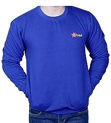 ROUND NECK PRINTEDS Blue SWEATSHIRT RS448295 42 LARGE