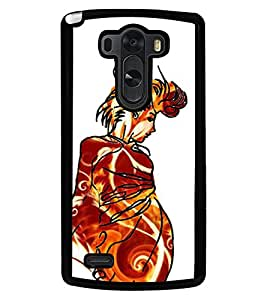 Fuson Premium Gorgeous Woman Metal Printed with Hard Plastic Back Case Cover for LG G3