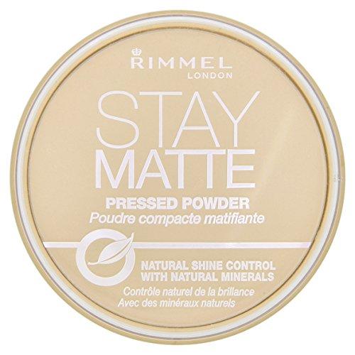 Rimmel Stay Matte, Cipria compatta - Transparent