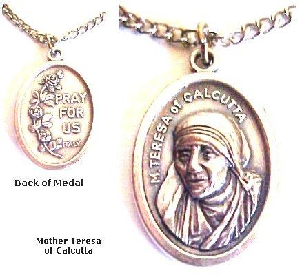 Mother Teresa Medal Women's Men's Spiritual Religious