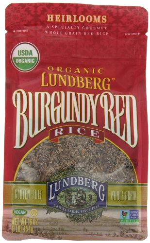 Lundberg Organic Rice, Burgundy Red, 16 Ounce (Pack of 6) (Lundberg Rice Red compare prices)