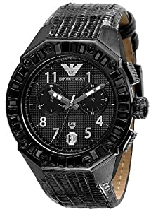 Emporio Armani AR0668 - Reloj de pulsera mujer, piel, color negro