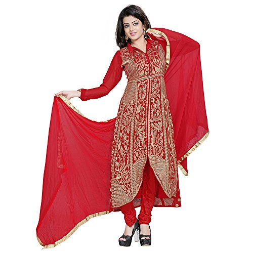 Yehii salwar suits for women stitched party wear Red Georgette
