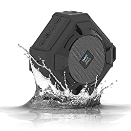 Bluetooth Speakers, Dreamlevel Portable IP65 Waterproof Wireless Outdoor Speakers NFC Compatibility with Built-in Microphone for Sport, Black