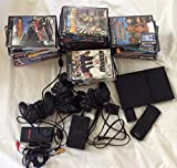 PlayStation 2 Console Slim - Black with 36 Games Lot