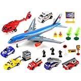 Supreme International Airport Toy Vehicle Playset W/ Variety Of Toy Vehicles & Figures