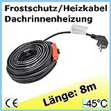 8m EXTRA Frostschutz u Heizkabel Heizleitung Dachrinnenheizung Frostschutzkabel Frostschutz f�r Palmen