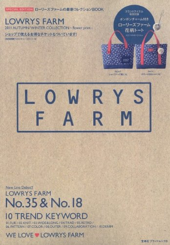 LOWRYS FARM 2011 AUTUMN/WINTER COLLECTION flower print <限定商品>