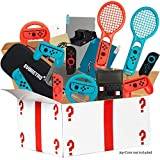 Ultimate Accessories Bundle for Nintendo Switch - 21 in 1 Essential Kit including (Tempered Glass Screen Protector, Travel Carrying Case, Joy Con Charging Dock Station, Grip, and more) (Color: RED, Tamaño: 22)