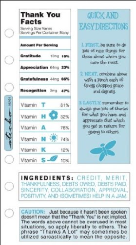 Sticko Ingredient Fact Stickers-Thank You