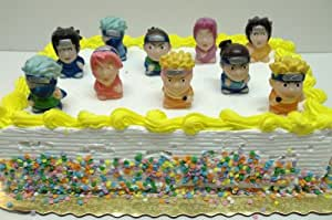 """Naruto Birthday Cake Topper Set Featuring 10 Naruto 2"""" Characters"""