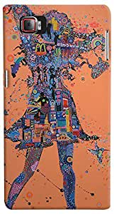 Print Haat Plastic Back Case for Lenovo K920 (Abstract-140)