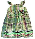 Good Lad Baby-girls Green Plais Sundress