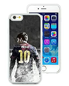 100% brand new Soccer Player Lionel Messi 04 White iPhone 6 (4.7 Inch) TPU Case