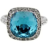 Fashion Plaza Women's Cubic Zirconia Wedding Engagement Ring R232