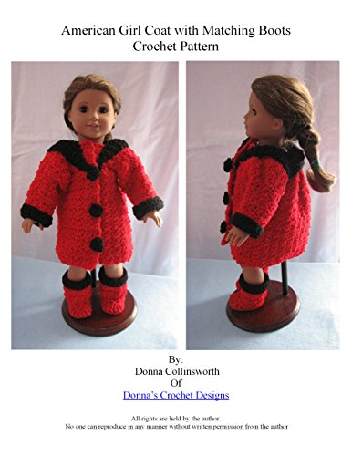 Winter Coat & Boots for American Girl Dolls Crochet Pattern