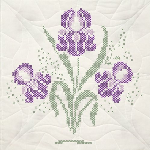 Fairway 95493 Quilt Blocks, Irisis Design, White, 6 Blocks Per Set