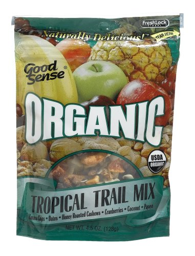 Buy Good Sense Organic Tropical Mix, 4.5-Ounce Bag (Pack of 6) (Good Sense, Health & Personal Care, Products, Food & Snacks, Snacks Cookies & Candy, Snack Food, Trail Mix)
