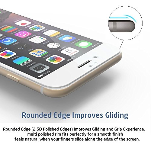 Full Screen Anti-scratch [0.3mm Thickness, 2.5D Round edge, 9H Hardness, Oleophobic] Tempered Glass Protectors with Curved Edge, Cover Edge-to-Edge, Protect Your Samsung I9190 Galaxy S4 mini Screens from Drops & Impacts, HD Clear, Bubble-free Shockproof