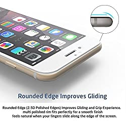 Full Screen Anti-scratch [0.3mm Thickness, 2.5D Round edge, 9H Hardness, Oleophobic] Tempered Glass Protectors with Curved Edge, Cover Edge-to-Edge, Protect Your XOLO Play 6X-1000 Screens from Drops & Impacts, HD Clear, Bubble-free Shockproof