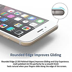 Full Screen Anti-scratch [0.3mm Thickness, 2.5D Round edge, 9H Hardness, Oleophobic] Tempered Glass Protectors with Curved Edge, Cover Edge-to-Edge, Protect Your Micromax Bolt S301 Screens from Drops & Impacts, HD Clear, Bubble-free Shockproof
