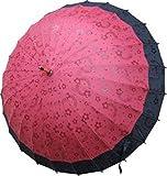 絵が浮出る不思議傘 桜に音符 葡萄色に黒