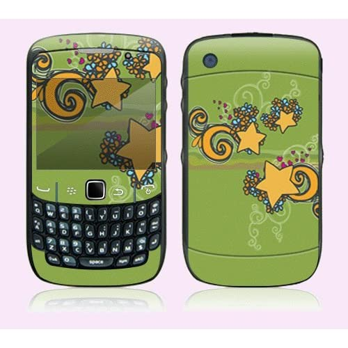 Flower Stars Decorative Skin Cover Decal Sticker for BlackBerry Curve 8500 Cell Phone