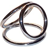 """Extreme Best Wow SEX ~ Solid Deluxe Steel Best Triad Chamber Triple Cock and Ball Ring for Extended Erection Sessions ~ Sm251 (Cock Ring 2"""")"""